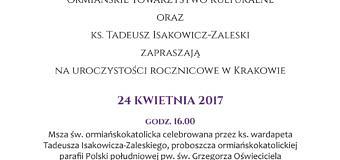 24 IV 2017 – krakowskie uroczystości w 102. rocznicę ludobójstwa Ormian