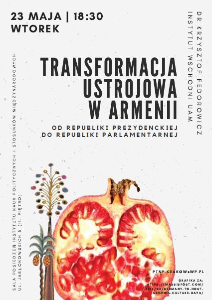 Zaproszenie Transformacja ustrojowa w Armenii